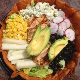 Cabo Chopped Salad with Salmon,  Click on image for details and restaurant location.