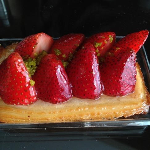 Strawberry Tart with sponge cake base, Las Vegas