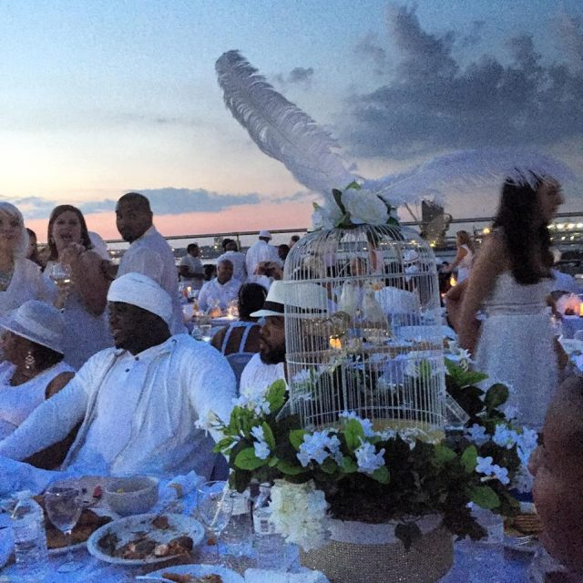 Yes. Those are live birds in that centerpiece! (And yes, I was concerned for them because of the heat. #animallover)
